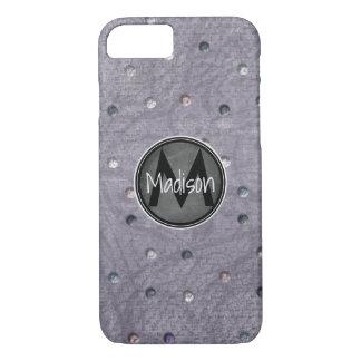 Bling on Gray w/ Chalkboard Frame iPhone 8/7 Case