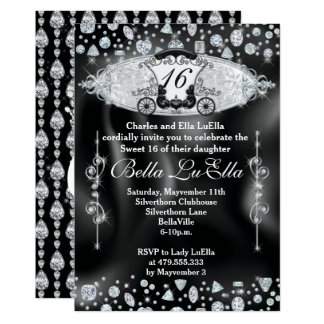 Bling Sweet 16 Party Invitations, Mis Quince Anos Card