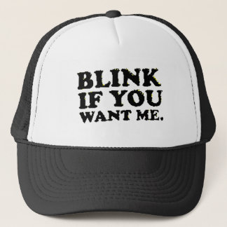 blink trucker hat