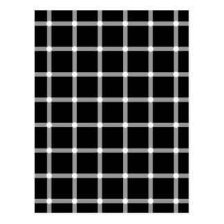 Blinking Dots - Optical Illusion Postcard
