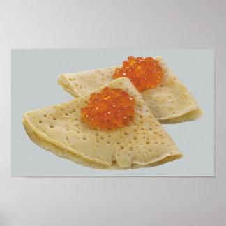Bliny et caviar poster