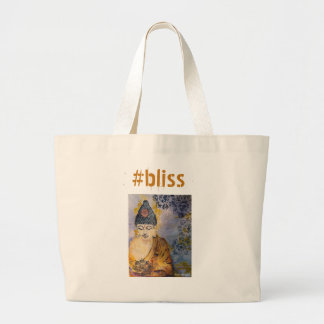 Bliss Buddha Watercolor Art Jumbo Tote Bag