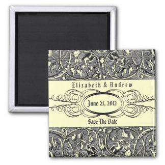 Bliss ~ Wedding Save The Date Announcement Square Magnet