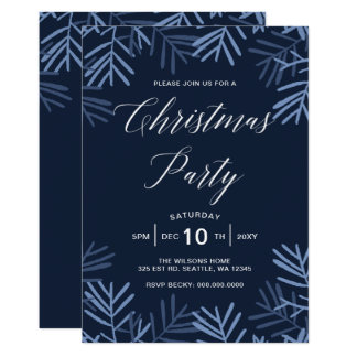 Blissful Branches Christmas Party Invitations