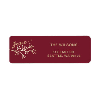 Blissful Branches Modern holiday Return Address Label