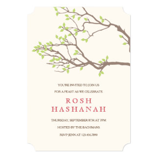 Blissful Branches Rosh Hashanah Invitation