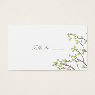 Blissful Branches Table Escort Business Card