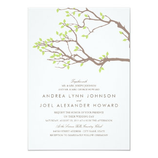 "Blissful Branches Wedding 5"" X 7"" Invitation Card"