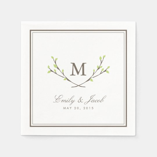 Blissful Branches Wedding Disposable Napkins