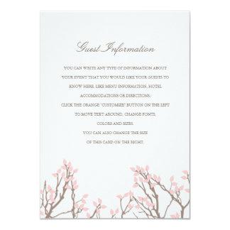 "Blissful Branches Wedding Insert 4.5"" X 6.25"" Invitation Card"