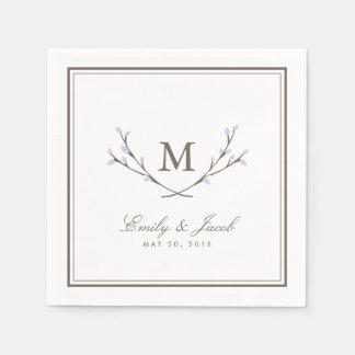 Blissful Branches Wedding Napkin