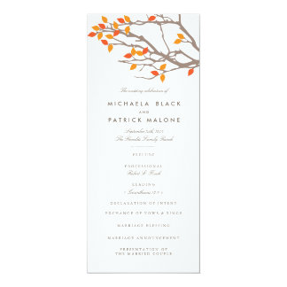 Blissful Branches Wedding Program
