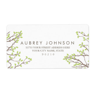 Blissful Branches Wedding Shipping Label
