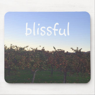 Blissful Motivational Quote Winery Photograph Mouse Pad
