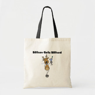 Blitzen Gets Blitzed Reindeer Tshirts and Gifts Tote Bag