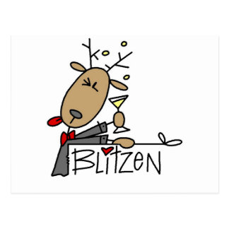 Blitzen Reindeer T-shirts and Gifts Postcard