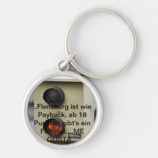 Blitzer, points in Flensburg, speed sinner Silver-Colored Round Keychain