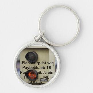 Blitzer, points in Flensburg, speed sinner Silver-Colored Round Keychain