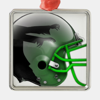 Blitzing Zombies 2015-Week 4 Silver-Colored Square Ornament