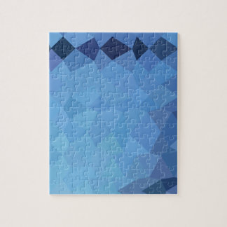 Blizzard Blue Abstract Low Polygon Background Puzzles