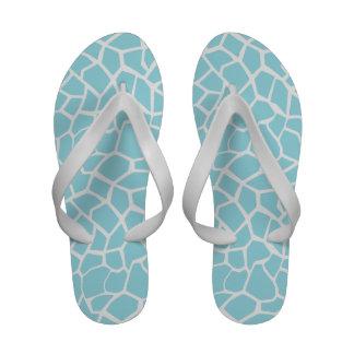 Blizzard Blue Giraffe Animal Print Sandals