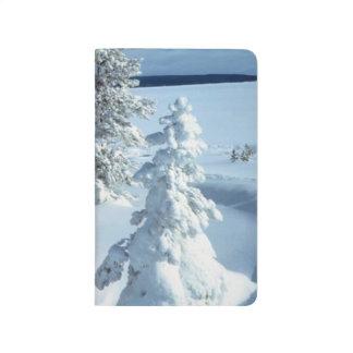 Blizzard Forest Winter Snowstorm Pretty Seasonal Journal