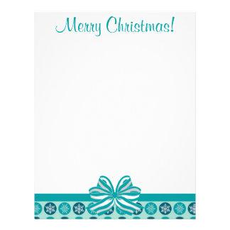 Blizzard Snowflakes Blue Christmas Letterhead