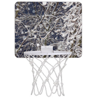 Blizzard Tree Photo Mini Basketball Hoop