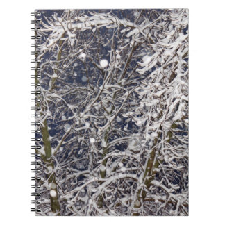 Blizzard Tree (with Snow Covered Branches) Photo Spiral Notebook