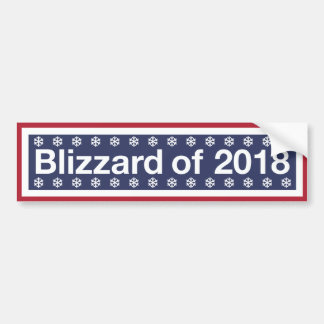 Blizzards Are Made Of Snowflakes Bumper Sticker