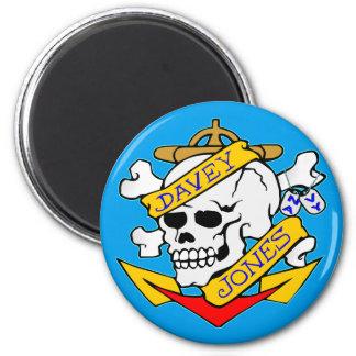 blk_davy_jones_skull 2 inch round magnet