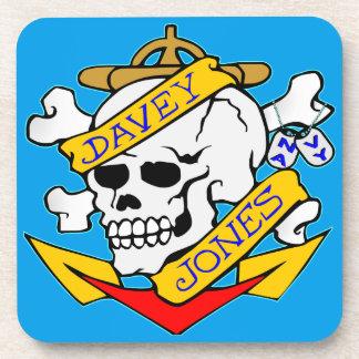 blk_davy_jones_skull beverage coaster