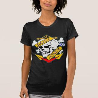 blk_davy_jones_skull T-Shirt