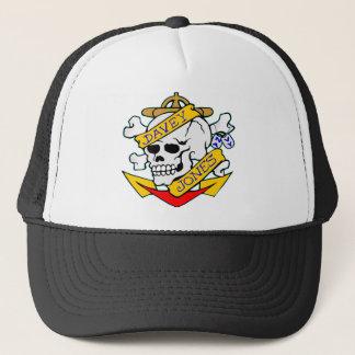 blk_davy_jones_skull trucker hat