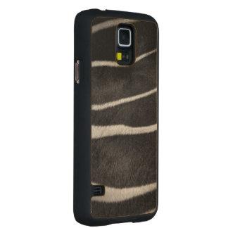 Blk&Wht Zebra Skin Maple Galaxy S5 Slim Case
