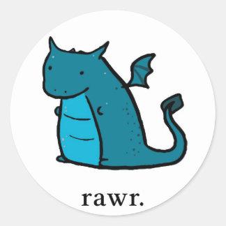 Blob Dragon Stickers