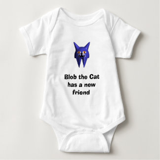 Blob the Cat has a new friend Baby Bodysuit