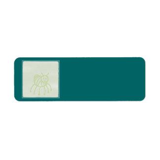 Bloc de vert de bébé étiquette d'adresse retour