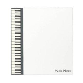 Bloc-note Pianiste DJ de musicien de clavier de piano de