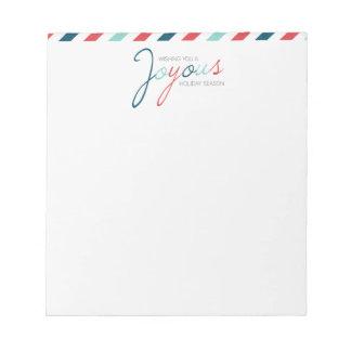 Bloc - notes de fête de rayure joyeuse de sucrerie bloc-notes mémo