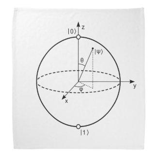 Bloch Sphere   Quantum Bit (Qubit) Physics / Math Bandanna