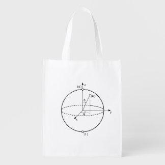 Bloch Sphere | Quantum Bit (Qubit) Physics / Math Grocery Bags