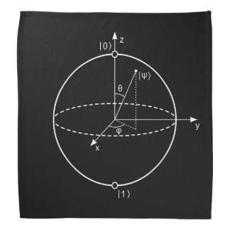 Bloch Sphere | Quantum Bit (Qubit) Physics / Math Head Kerchief