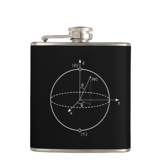 Bloch Sphere | Quantum Bit (Qubit) Physics / Math Hip Flask