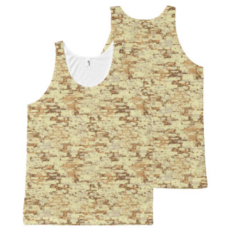 Block desert camouflage All-Over-Print tank top