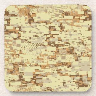 Block desert camouflage drink coaster