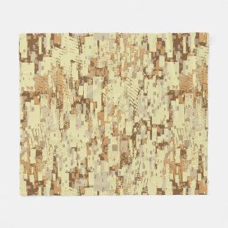 Block desert camouflage fleece blanket