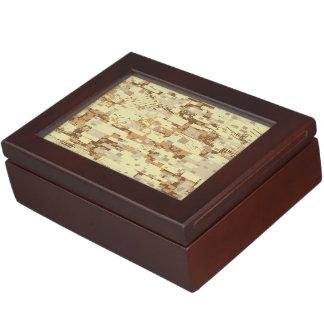 Block desert camouflage keepsake box
