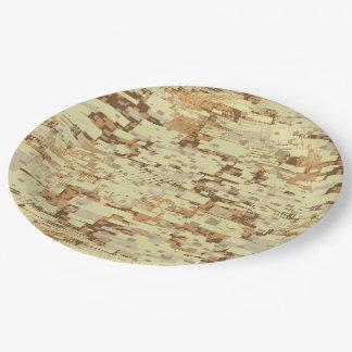 Block desert camouflage paper plate