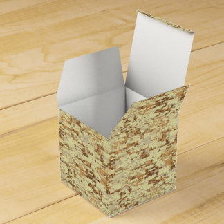 Block desert camouflage party favor box
